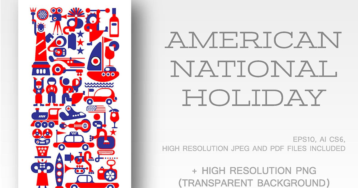 Download American National Holiday vector illustration by danjazzia