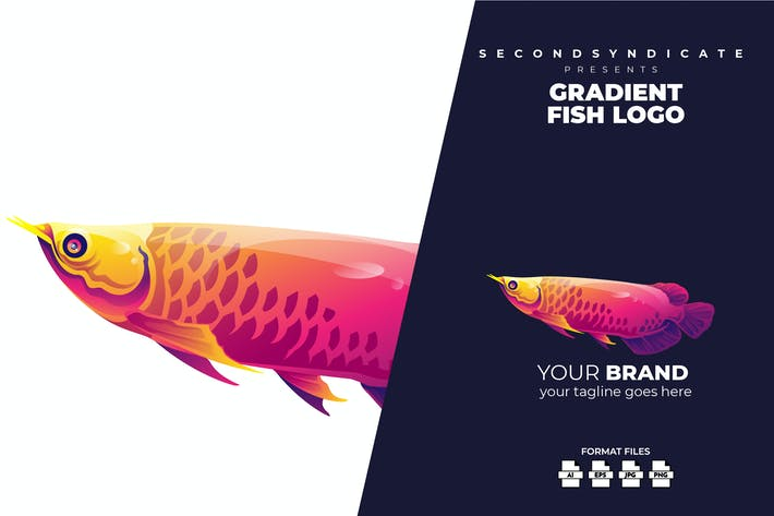 Thumbnail for Gradient Fish Logo