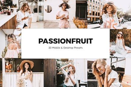 20 Passionfruit Lightroom Presets & LUTs