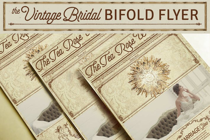 Thumbnail for Vintage Bridal Bifold Flyer