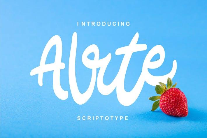 Thumbnail for Alrte | Modern Scriptotype Font