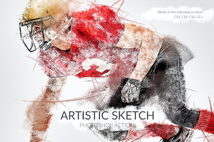 Thumbnail for Artistic Sketch Photoshop Action
