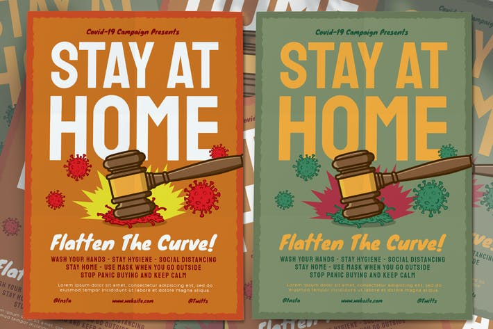Thumbnail for Stay At Home Covid-19 Flyer