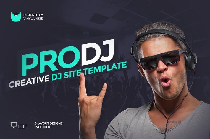 Thumbnail for ProDJ - Creative DJ / Producer Site PSD Template
