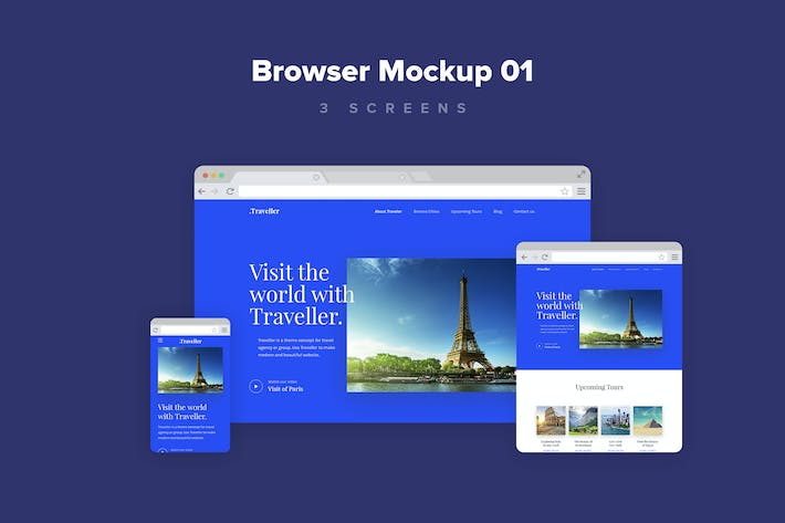 Thumbnail for Website Browser Mockup 1.0