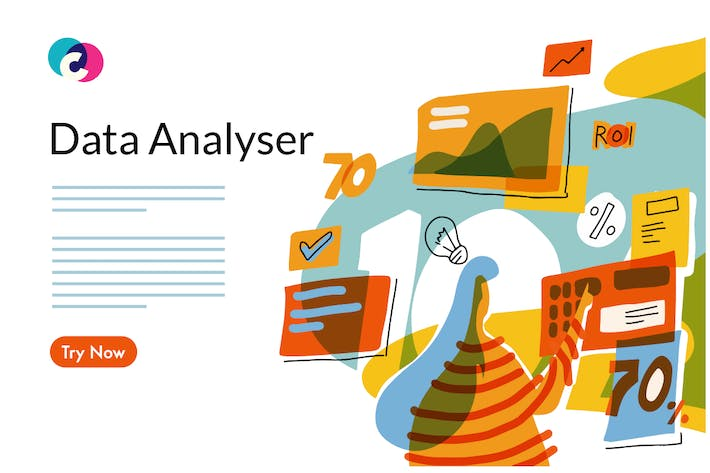 Thumbnail for Data analyse graphic template