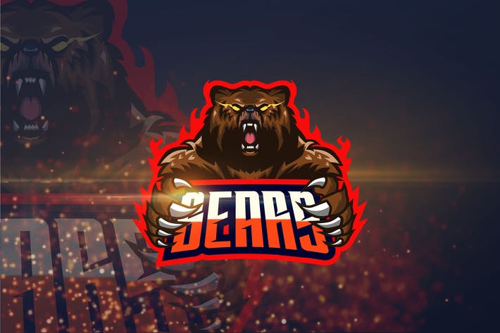 Thumbnail for Bear - AI and PSD eSport Logo Template