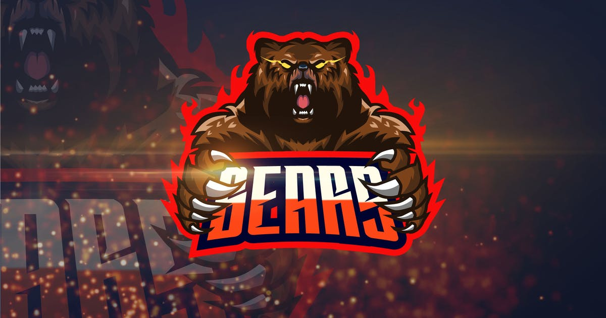 Download Bear - AI and PSD eSport Logo Template by Graphiqa