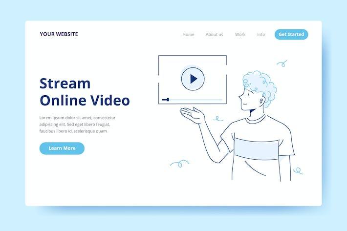 Thumbnail for Потоковое онлайн-Видео - Иллюстрация