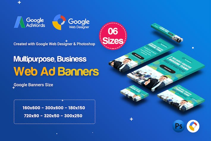 Cover Image For C08 - Multipurpose, Business Banners GWD & PSD