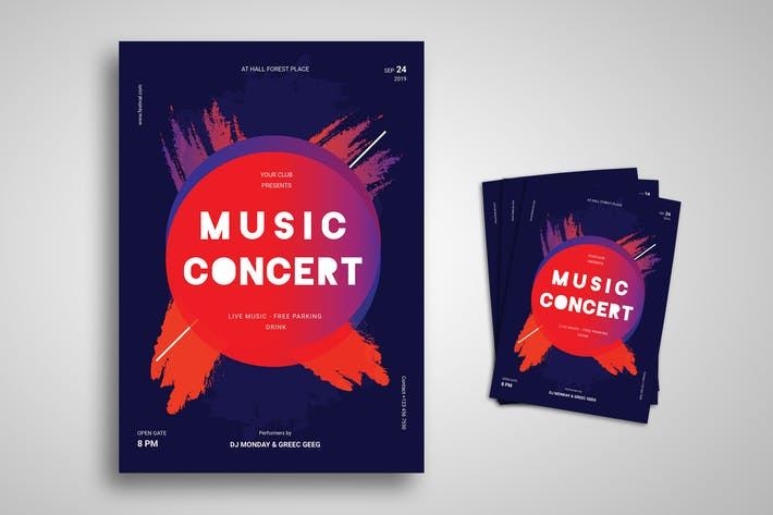 Cover Image For Music Concert Promo Flyer