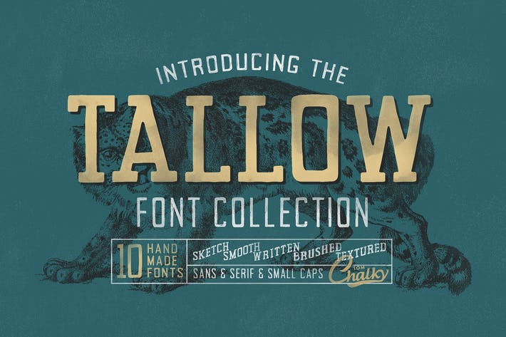 Thumbnail for Tallow Font Collection (10 Fonts!)