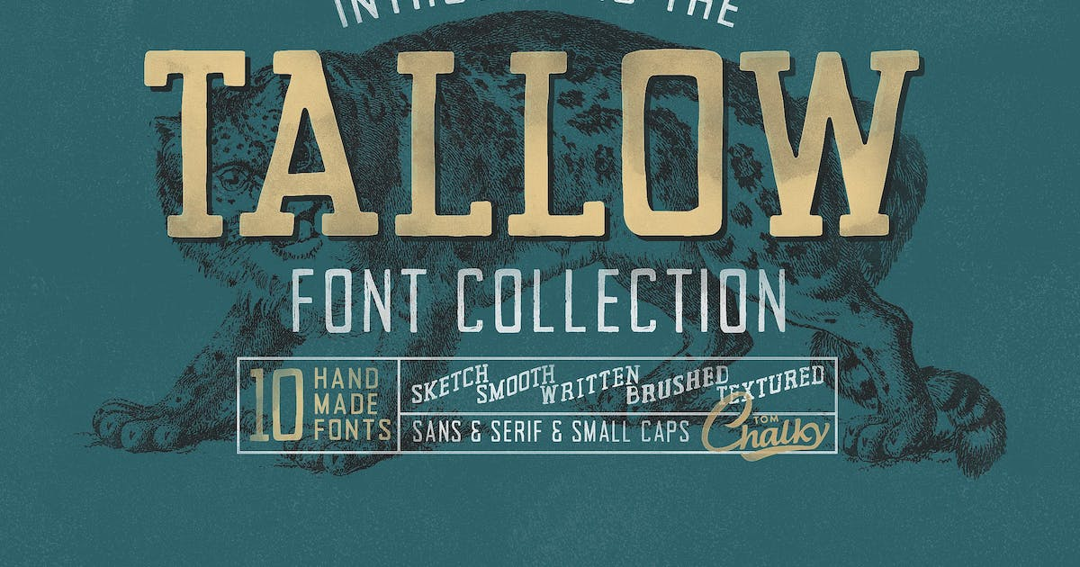 Download Tallow Font Collection (10 Fonts!) by tomchalkys