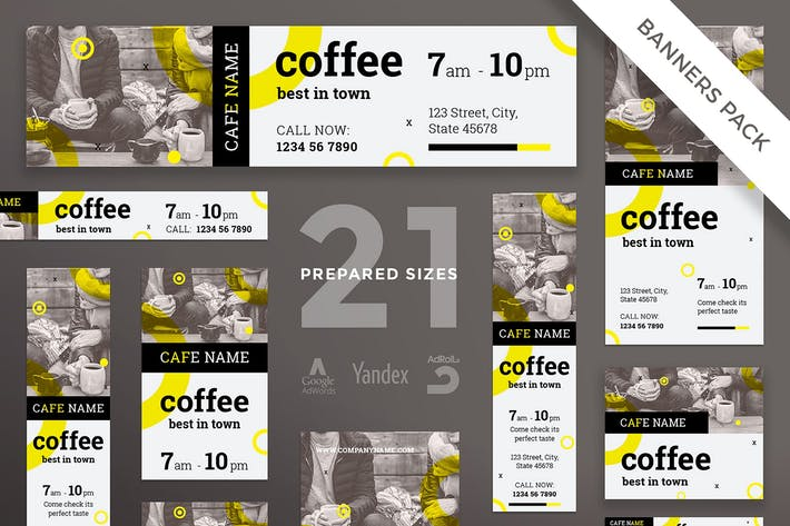 Cover Image For Coffee Shop Banner Pack Template