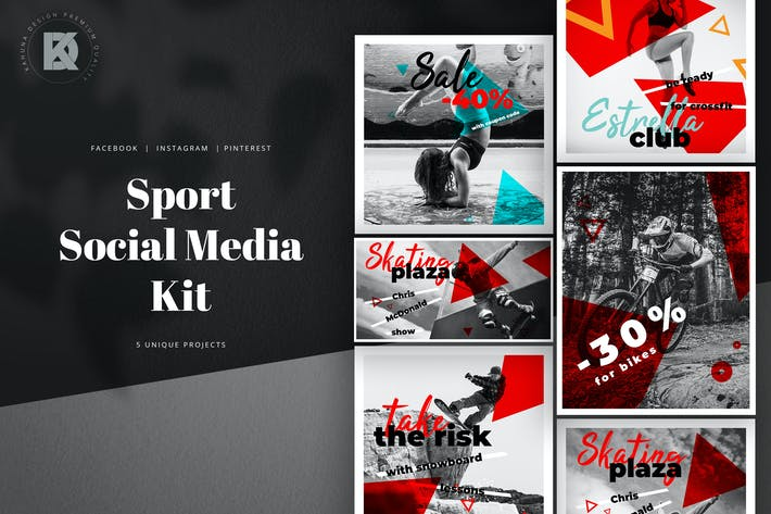 Thumbnail for Sport Monochrome Social Media Pack