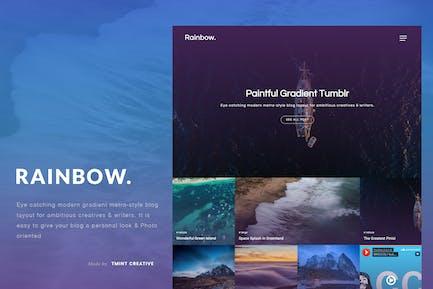 Rainbow - Gradient Grid Tumblr Tema