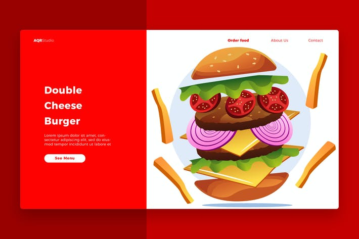 Thumbnail for Burger - Banner & Landing Page