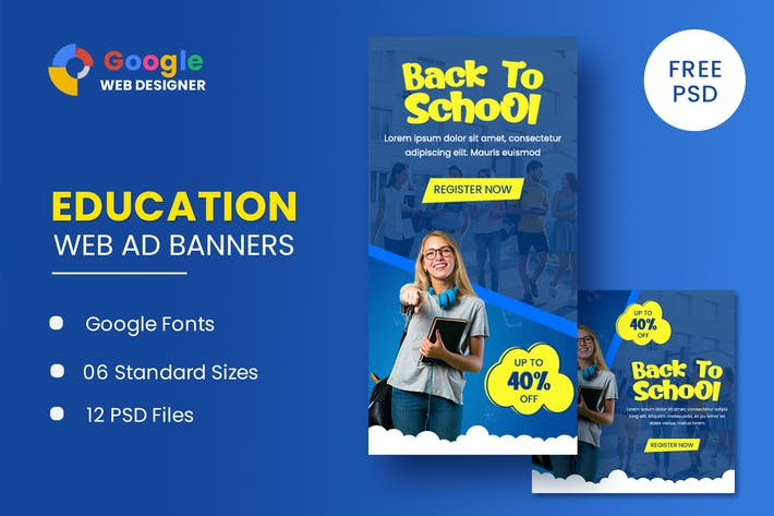 Education Banners Google Web Designer Template