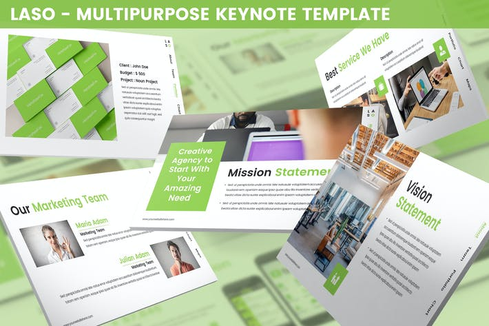 Thumbnail for Laso - Multipurpose Keynote Template