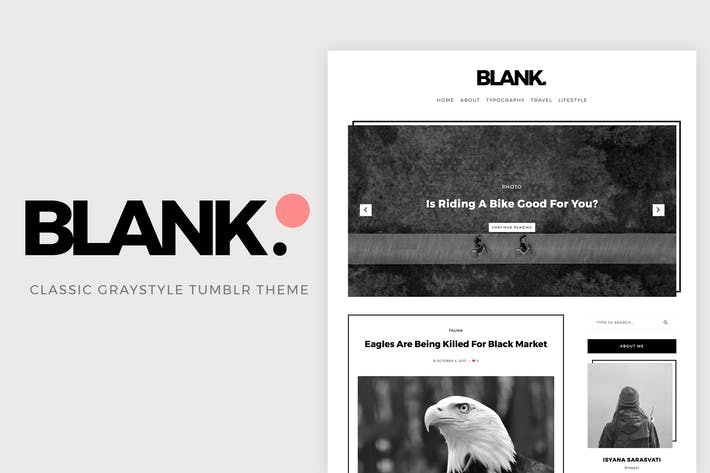 Thumbnail for Blank Gray-style Tumblr Theme