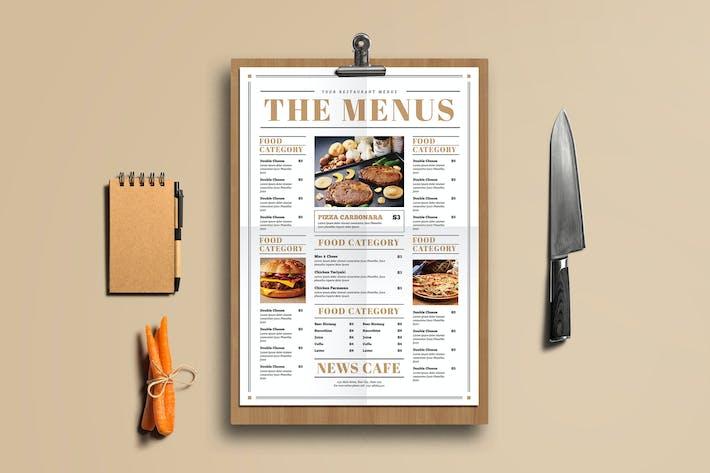 Thumbnail for Newspaper Style Food Menus
