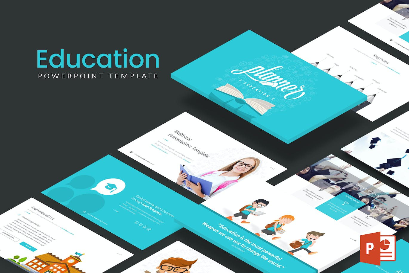 education powerpoint template by inspirasign on envato elements