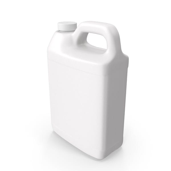 Plastic F Style Bottle 1Gallon With Smooth Plastic Cap