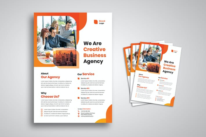 Thumbnail for Creative Business Agency Flyer
