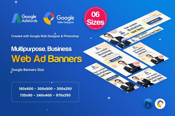 Thumbnail for Multi Purpose Banners HTML5 D32 - GWD & PSD