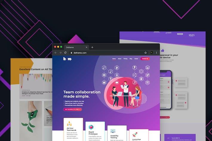Thumbnail for Boro - Plantillas HTML para SaaS & Apps Startup Comp