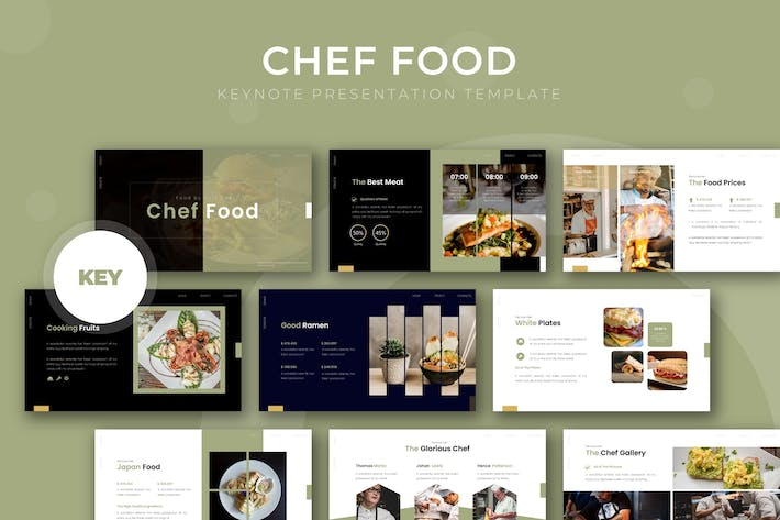 Thumbnail for Chef Food - Keynote Template