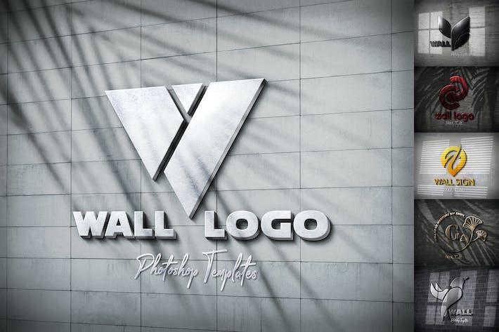 Thumbnail for Wall Logo Sign Mockups