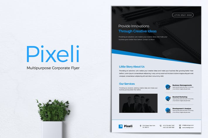 Thumbnail for PIXELI Corporate Business Flyer