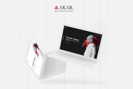 Akar – Creative Digital & Marketing Agency OnePage