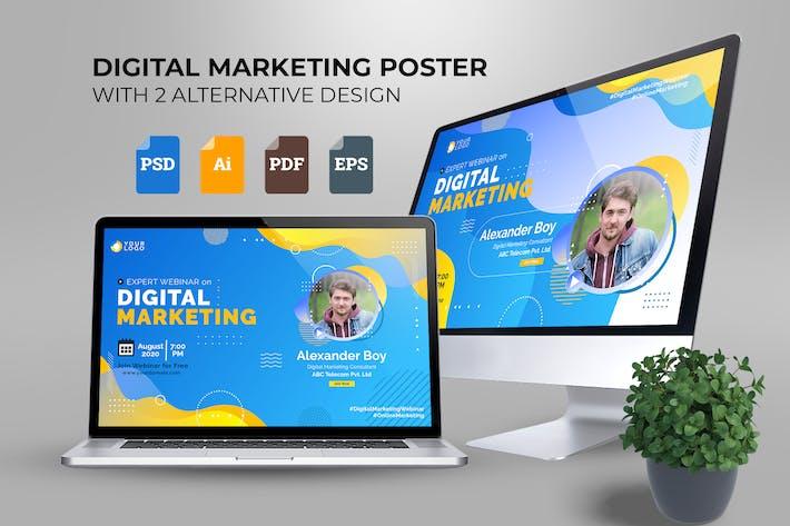 Thumbnail for Webinar Digital Marketing Poster Template Vol. 01