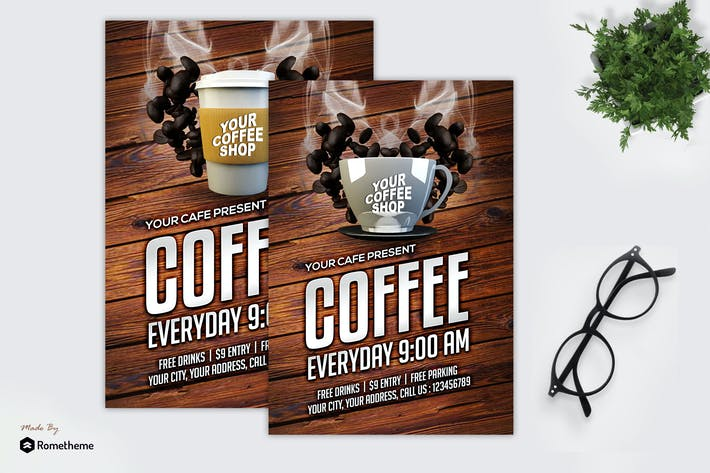 Thumbnail for Coffee Shop - Promotion Flyer MR