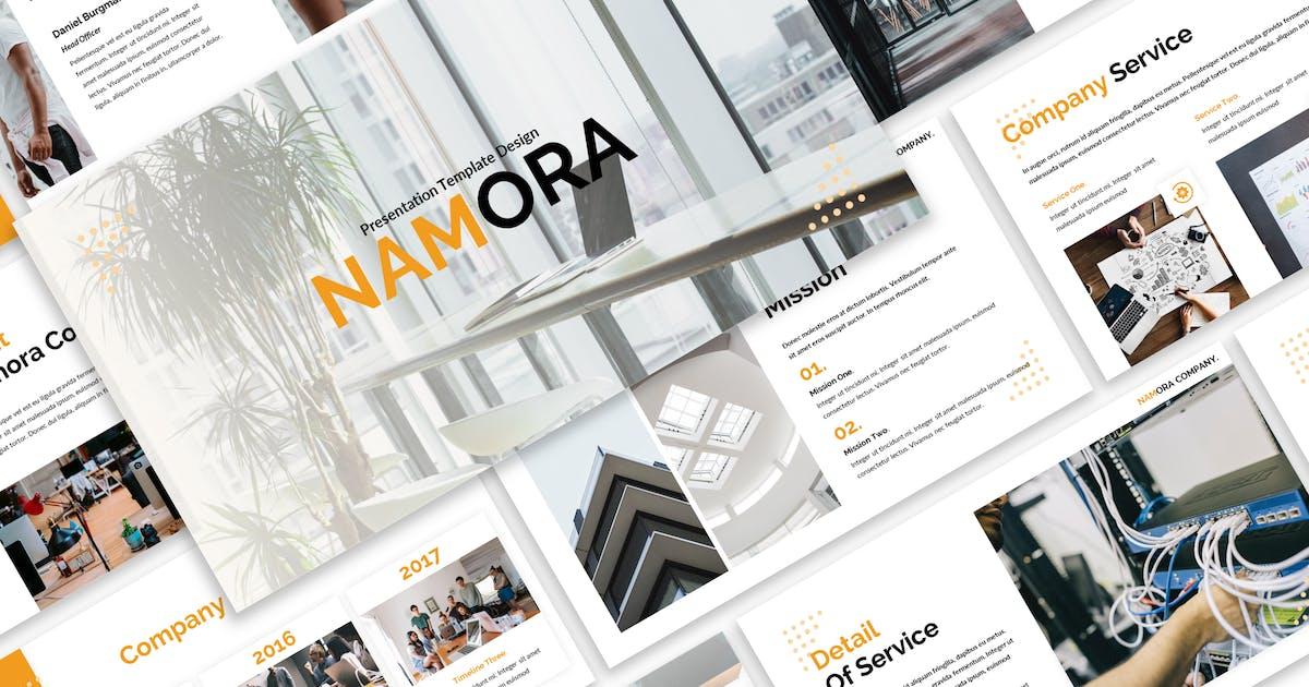 Download Namora - Business Keynote Template by Blesstudio