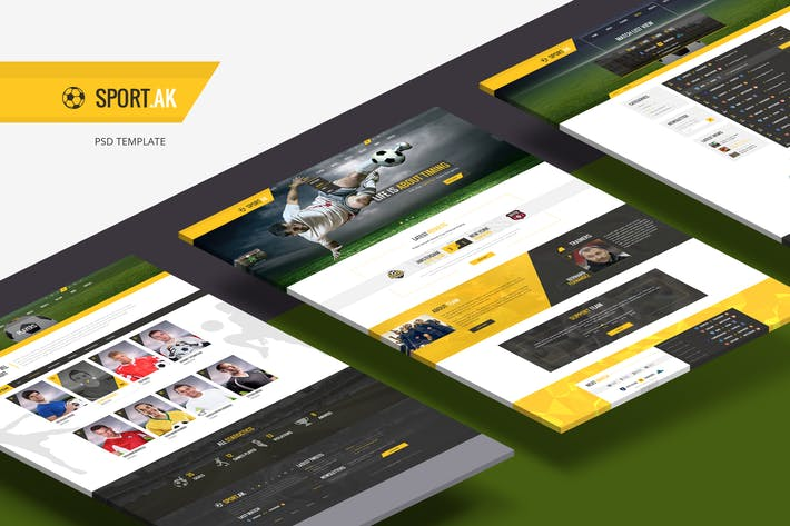 Thumbnail for Sport.AK — Soccer Club and Sport PSD Template