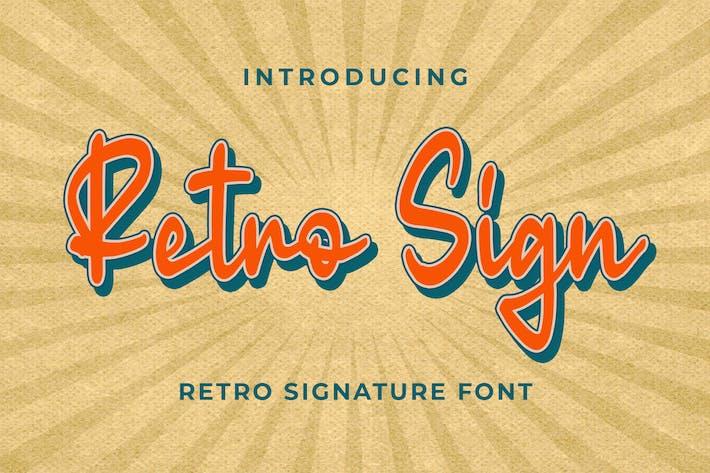 Thumbnail for Retro Sign - Retro Signature Font