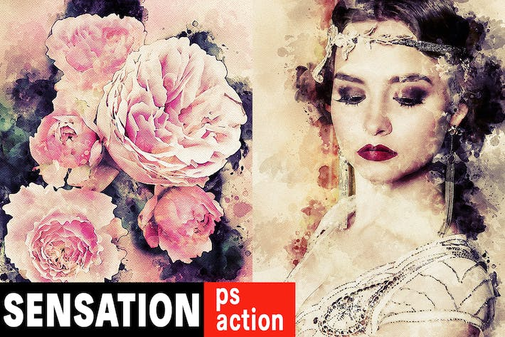 Thumbnail for Sensation - Watercolor Photoshop Action