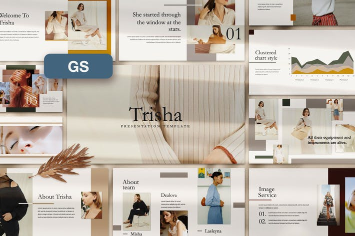 Thumbnail for Trisha Google Slide Template