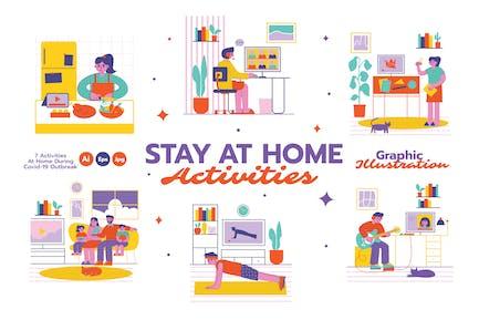 Zu Hause bleiben Aktivitäten