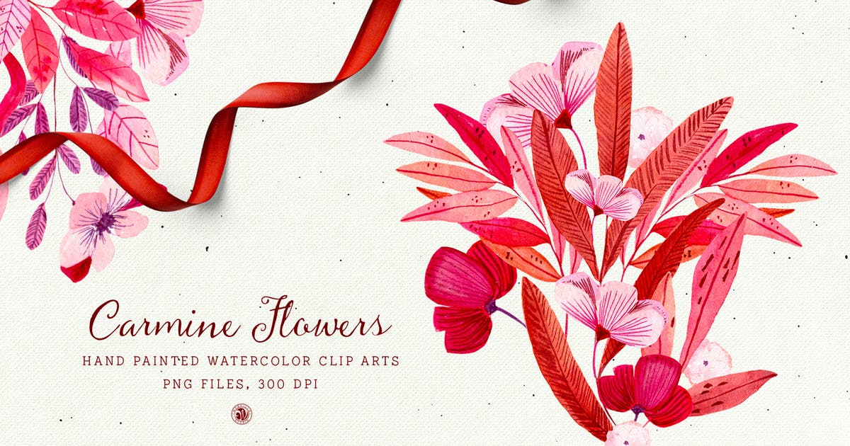 Download Carmine Flowers by Webvilla