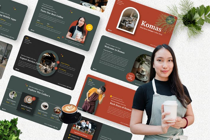 Komas - Coffee Shop Keynote Template