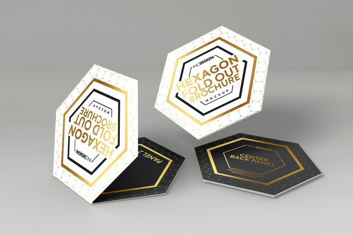 Thumbnail for Hexagon Fold Out Style Brochure