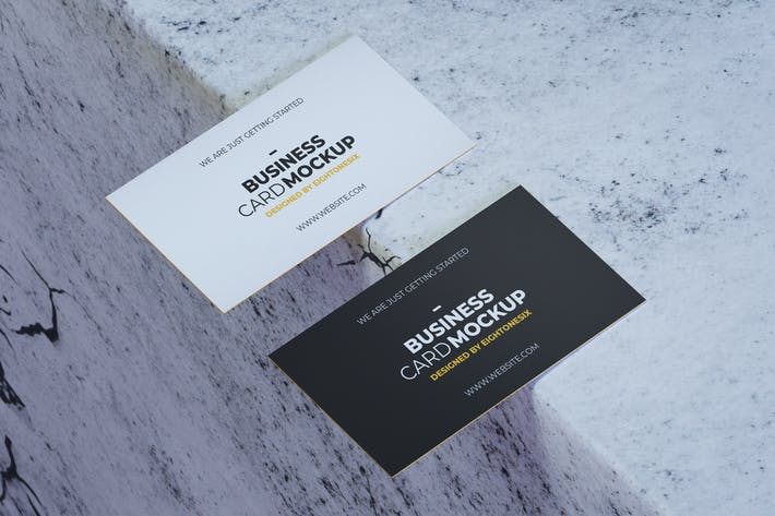 Cover Image For Simple Realistic Business Card Mock-Up Template