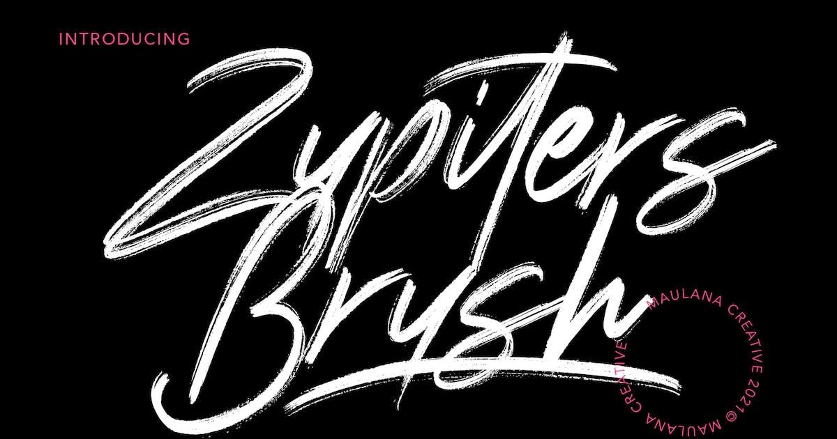 Download Zupiters Brush Font by maulanacreative
