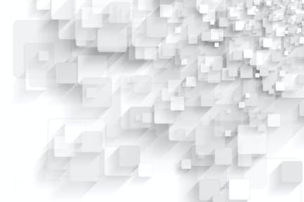 Abstrakt grau Tech geometrische Quadrate Hintergrund