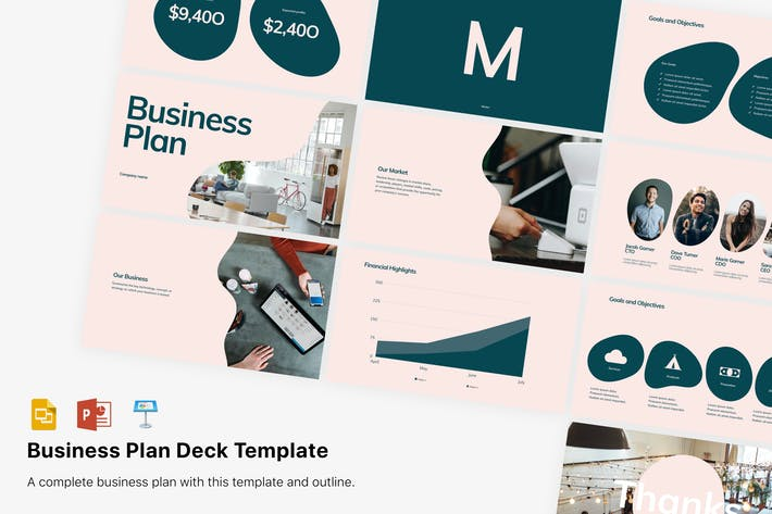 Cover Image For Business Plan Presentation template