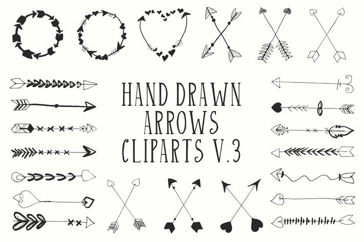 Thumbnail for 30+ Handdrawn Arrows Clipart Ver. 3